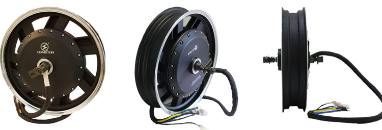 17 inches 5000 W 72 V V2 BLDC Hub motor for Electric Motorcycle