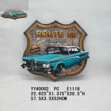 Customer printing Amercian car embossed metal tin sign arts for wall decor