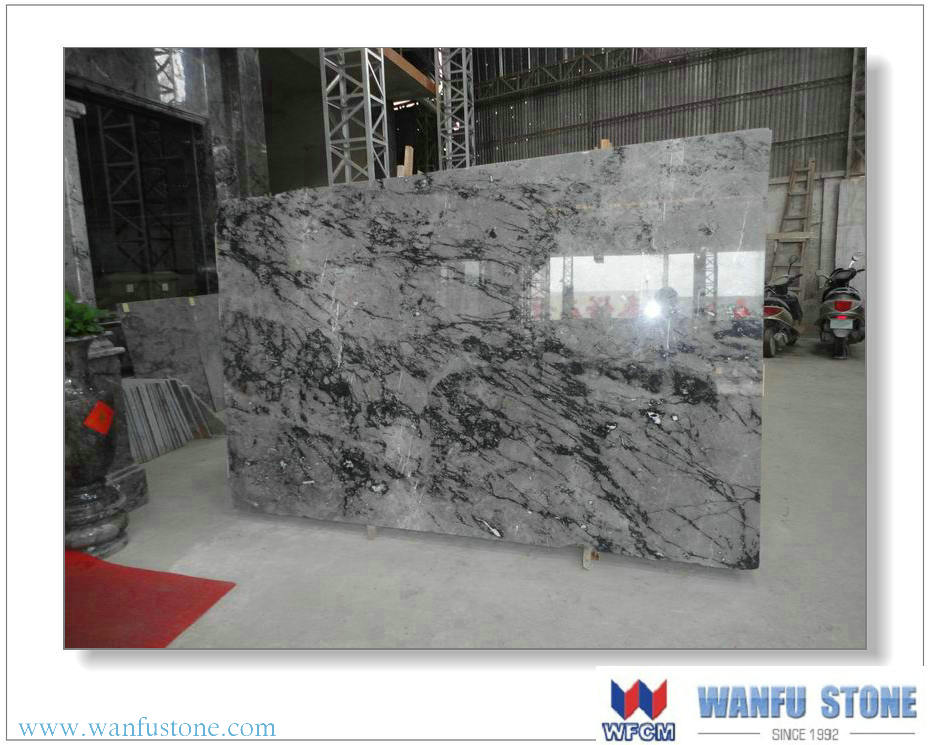 Italian black rose marble above 1.4m big slab with competitive price
