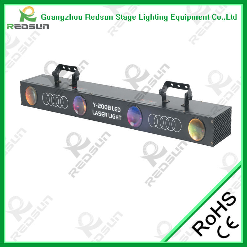 Lowest price!!! Super Brightness Foggy Effect LED Four Eyes for DJ War KTV BAR Laser Light eye Animation Stage Concert light