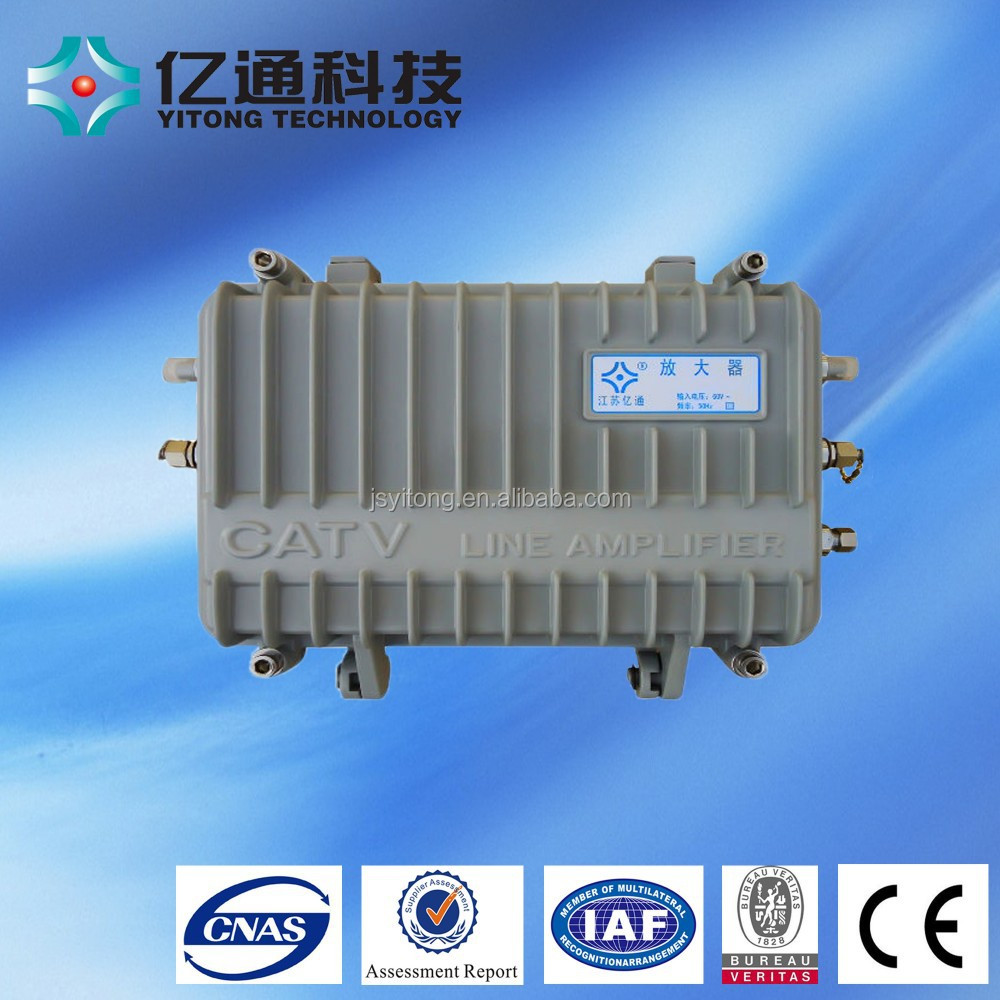 Outdoor type catv amplifier signal