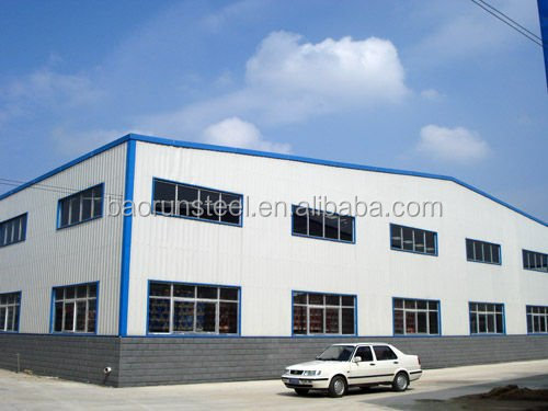 Light frame zinc galvanizing plant structural steel fabrication workshop/ plant