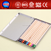YIWU hot selling good cheap stationery 24 color pencil charcoal drawing supplies