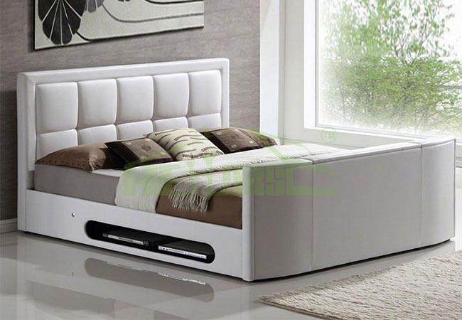 meubles de chambre coucher moderne lit profusion avec syst me tv int gr literie id de produit. Black Bedroom Furniture Sets. Home Design Ideas