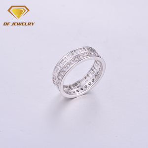 CR1707374 Simple Women Jewelry Wholesale Two Stone Ring Designs