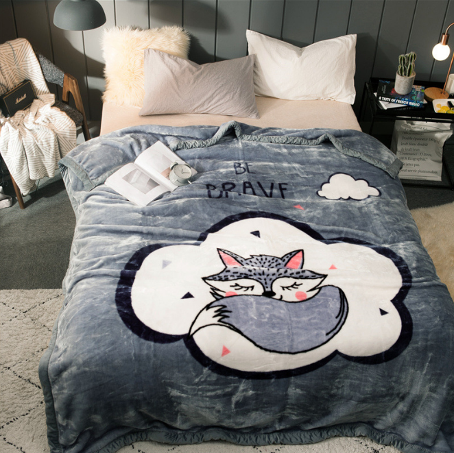 Custom Wholesale High Quality New Design Animal Cartoon Original Pattern Rashel Blanket