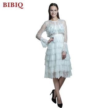 2017 lolita sexy eleganten langen Ärmeln junge damen kleider mit fransen kleid voller weißer