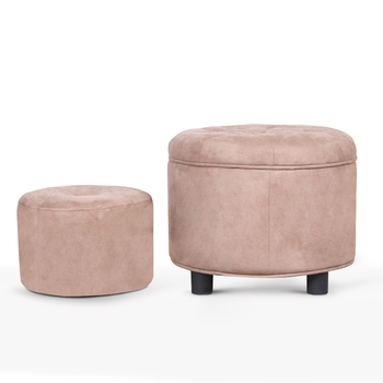 Fantastic Modern Fabric Round Storage Ottoman Foot Rest Stool Beige Or Customize Buy Adjustable Foot Stool Round Storage Ottoman Best Product On Alibaba Com Caraccident5 Cool Chair Designs And Ideas Caraccident5Info
