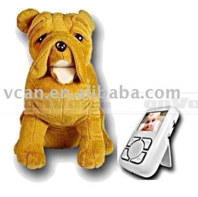 Wireless Baby Monitor - Camera In Nose Of Dog Soft Toy