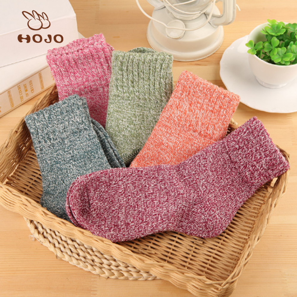 custom warm winter sock fuzzy heated thermal sock