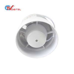 4 inch Plastic Ventilation Duct Fan Booster Fan Plastic Waterproof Ventilation Pipe Exhaust Ceiling Bathroom Fan
