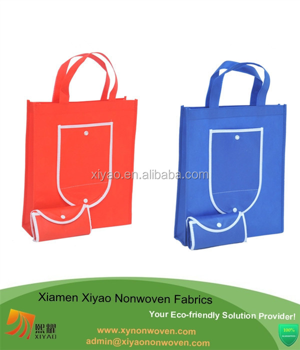 Reusable Shopping Tote Bag Folding Up Reusable Compact Eco Periodic Duty Recycling Use shopping bag non woven
