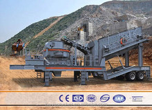 Integrative stone mobie crushing and screening machine, super performance and reliability