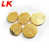 Challenge coin anti-gold souvenir with custom logo 18k gold coin