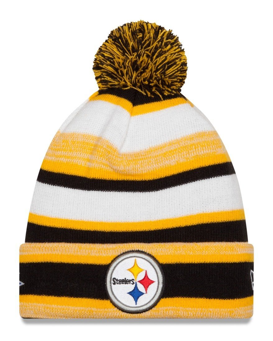 d331540719da15 Pittsburgh Steelers New Era NFL Super Bowl XLIII Logo Striped Sport Knit Hat