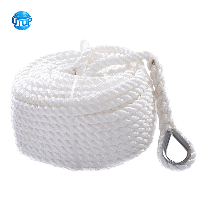 Twisted 3 Strand 6600lbs nylon rope, Anchor Rope for Boat, Sailboat Marine ROPE