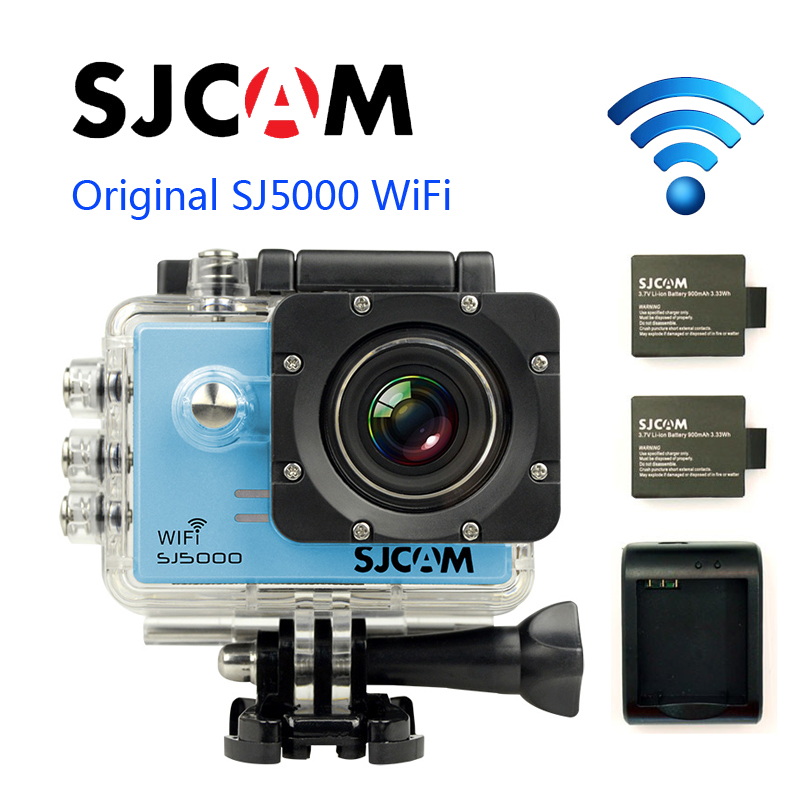 Free Shipping!! Original SJCAM SJ5000 WIFI Diving 30M Waterproof Action Camera Gopro style+Extra 2pcs batteries+Battery Charger