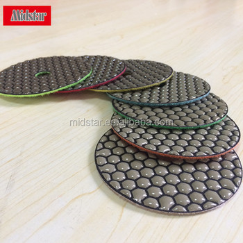 "4"" Dry Granite Diamond Polishing Pads for Angle Grinder"