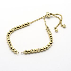 "PandaHall Brass Chain Bracelet Making Slide Bracelet Extender Chain Cadmium Free Nickel Free Lead Free 5-1/8"" x1mmHole:1.5mm"
