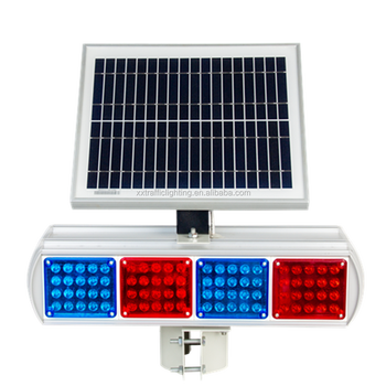 Road safety solar power led warning flare light