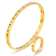 Gold stainless steel bangle ring fashion jewelry sets