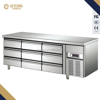 Refrigerated Counter With Drawers 9 Drawers Under