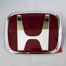 2006-2014 HONDA CIVIC 4 DOOR RED H RED JDM REAR BACK side EMBLEM