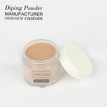 guangzhou oem wholesale brown nude color dip powder