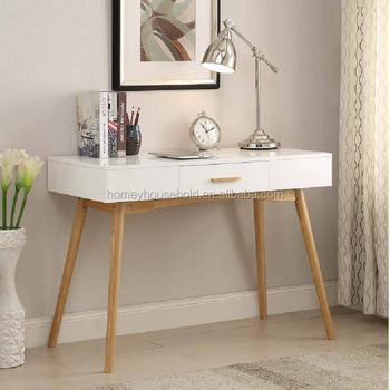 Attirant Simple Design Furniture Convenience Concepts Oslo Wooden Storage One Drawer  Writing Desk