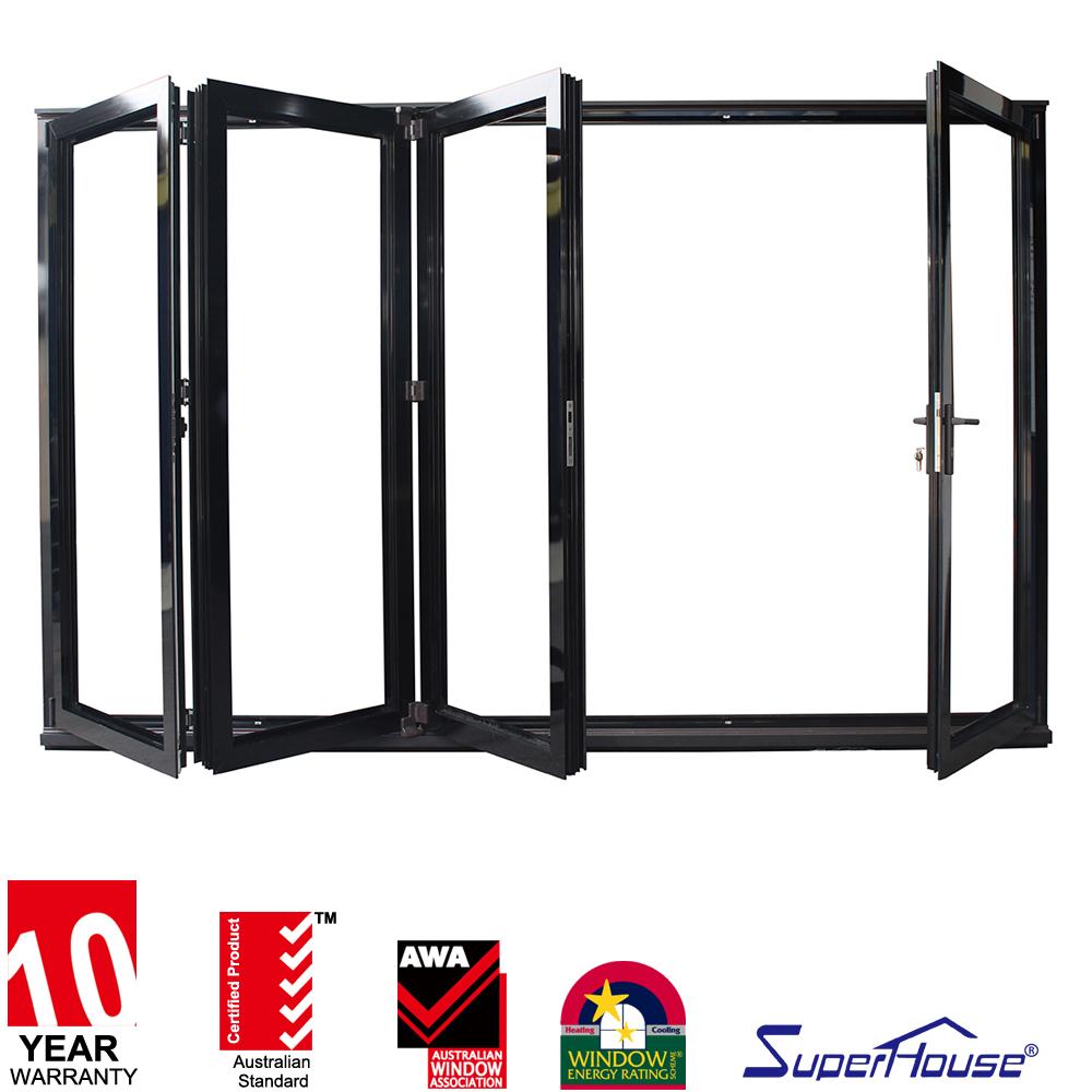 Aluminium bi porte pliante avec porte ext rieure avec for Porte double vitrage
