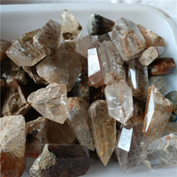 natural rutilated quartz crystal towers rough rutile crystal wands