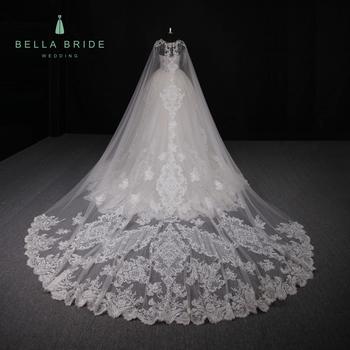 Super Mewah Dilepas Kereta Custom Made Wanita Gaun Pernikahan Bridal Pernikahan Pakaian Putih Puffy Wedding Dress Dengan Berlian Buy Putih Puffy