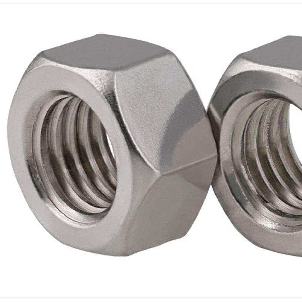 "Fullerkreg 5/16""-18 Machine Screw Hex Nuts, Stainless Steel 18-8, Bright Finish, Quantity 50"