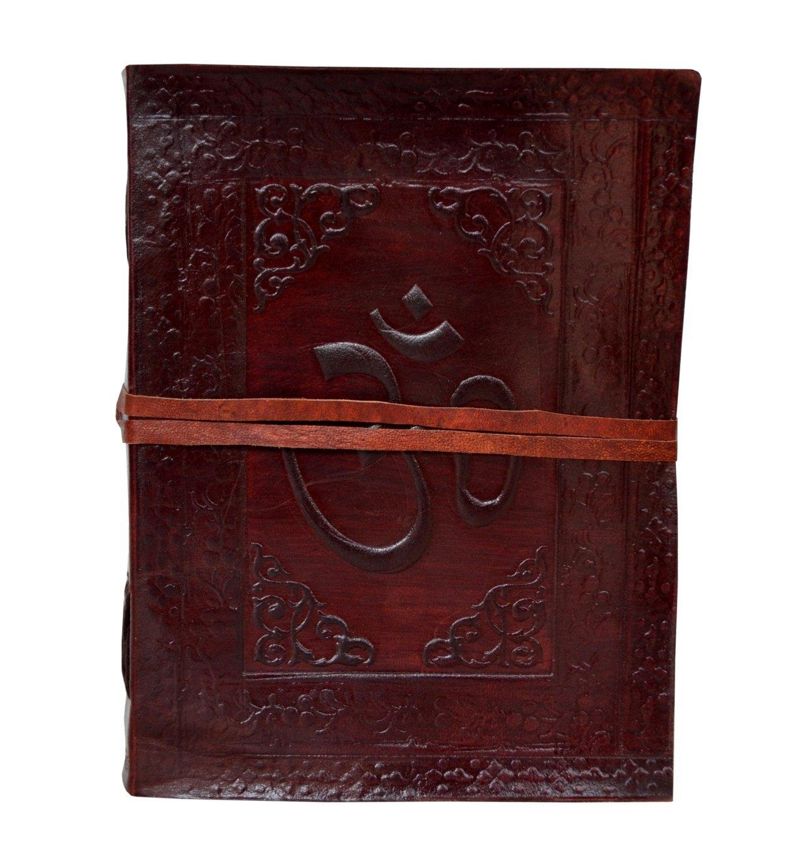 New Vintage Genuine Omm Embossed Bound Handmade Leather Journal Diary Cotton Paper Notebook & Sketchbook