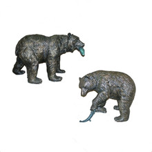 Professionelle Große Tier Skulptur <span class=keywords><strong>Bronze</strong></span> Nahrungssuche Bears (YL-K203)