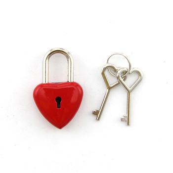 Fechaduras Cadeado Em Forma De Coração Pequeno Coração Vermelho Em Forma De Coração Fechadura Com Chave Buy Cadeado Em Forma De Coraçãoamor