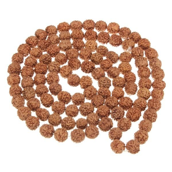 Горячая распродажа природный рудракши Rudraksh джапа мала 108 + 1 бусины йога анти-индуистского молитва медитация буддизма для практика медитации браслет