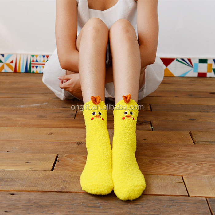 Cute Cartoon Duck Floor Socks