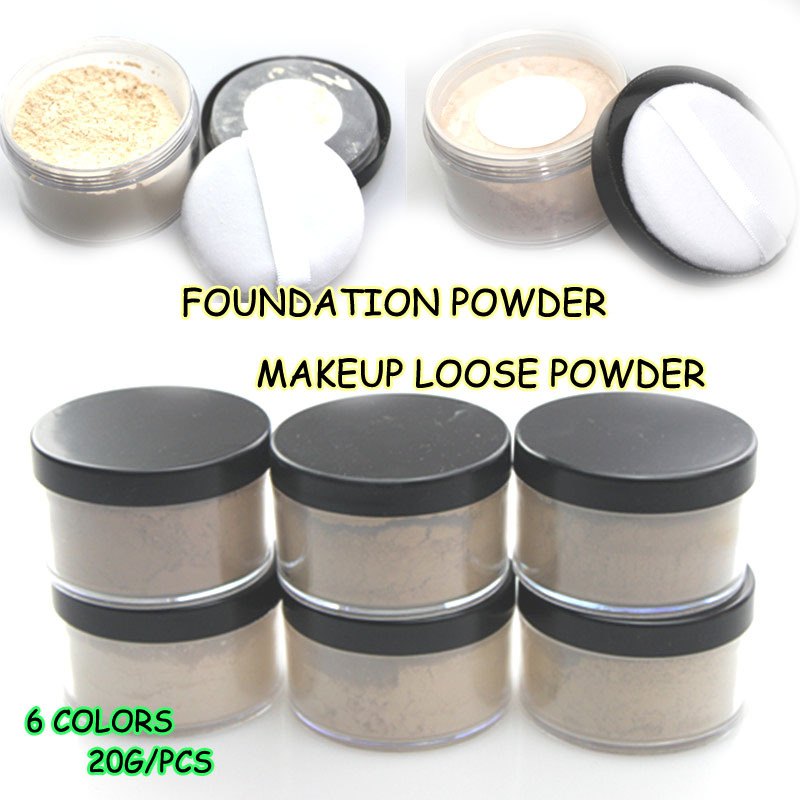 6 Colors Long Lasting Highlighter Makeup Loose Setting Powder