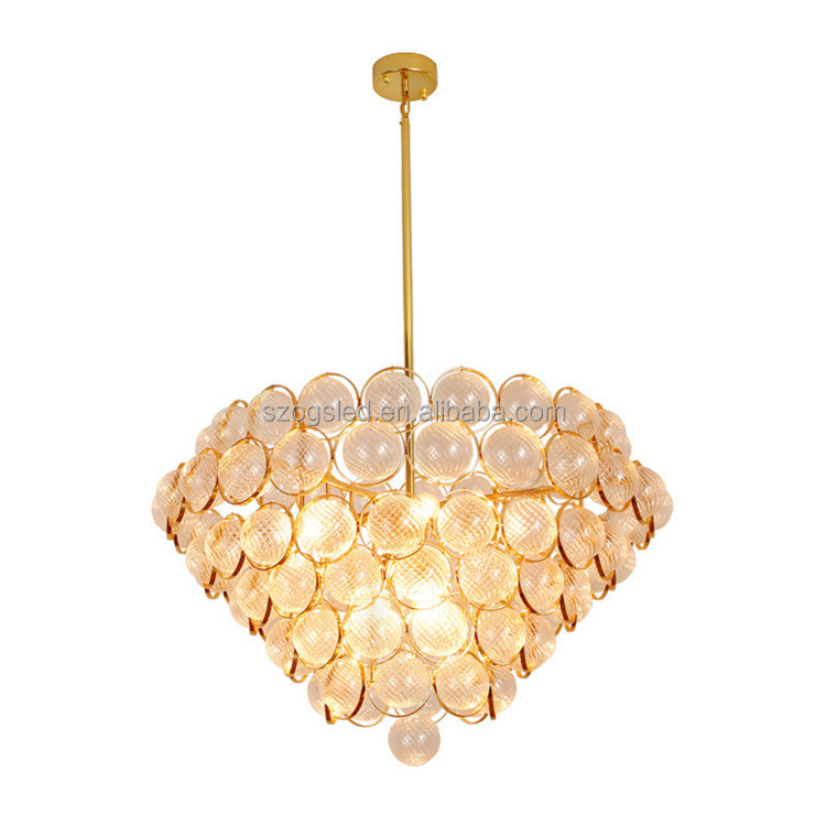 Modern Indoor Lighting Large Oval Crystal Gold Chandelier for Hotels