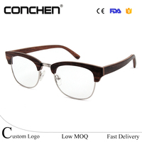 mens womens classic 2017 hand crafted spring hinge wooden prescription half fame eyeglasses