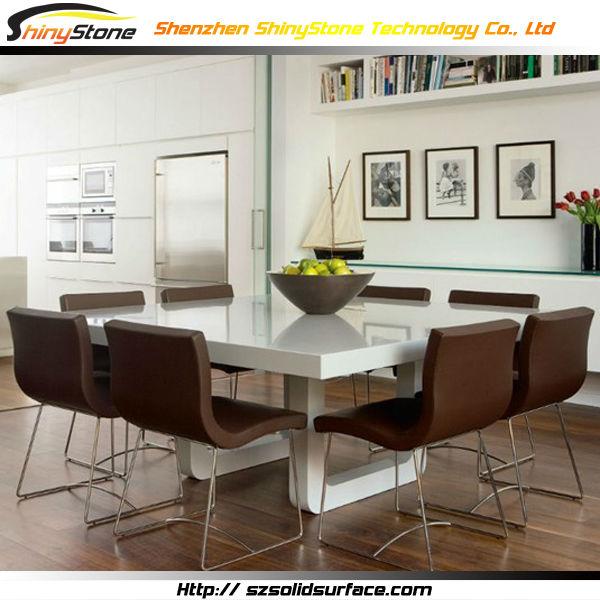 Alta- Fine Himacs Superficie Solida Tavolo Quadrato Bianco 8 - Buy ...