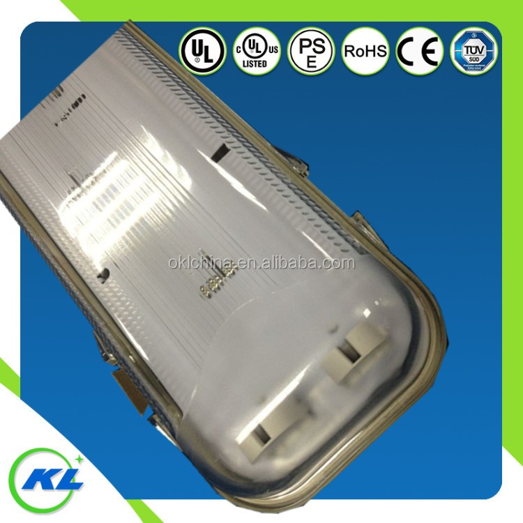 Emergency power supply driver Ip65 Waterproof Lighting Fixture T8 lampholder 2x36w