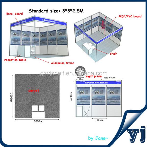 Stand Stan Pameran Dagang Warna Kustom, 3x3 Sistem Pameran Booth Pameran