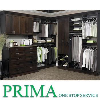 China Suppiler Wooden Almirah Designs Closet Room Design Walk In Wardrobe  With Pull Down Closet Rod
