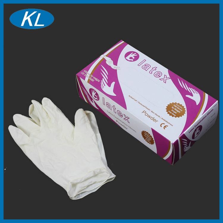 Top quality medical consumable 100% natural doctor latex gloves disposable