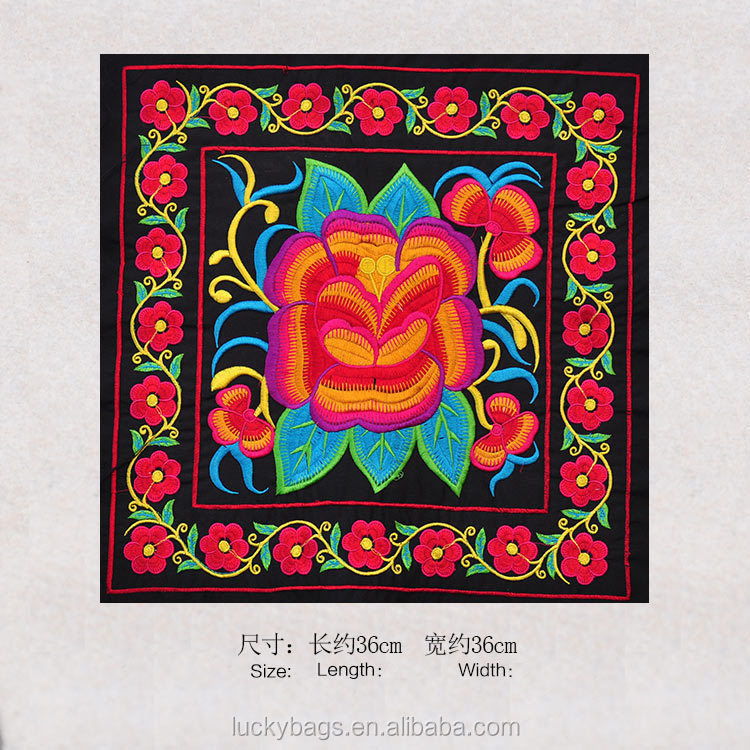 Soft Satin Embroidery fabric for hmong bags