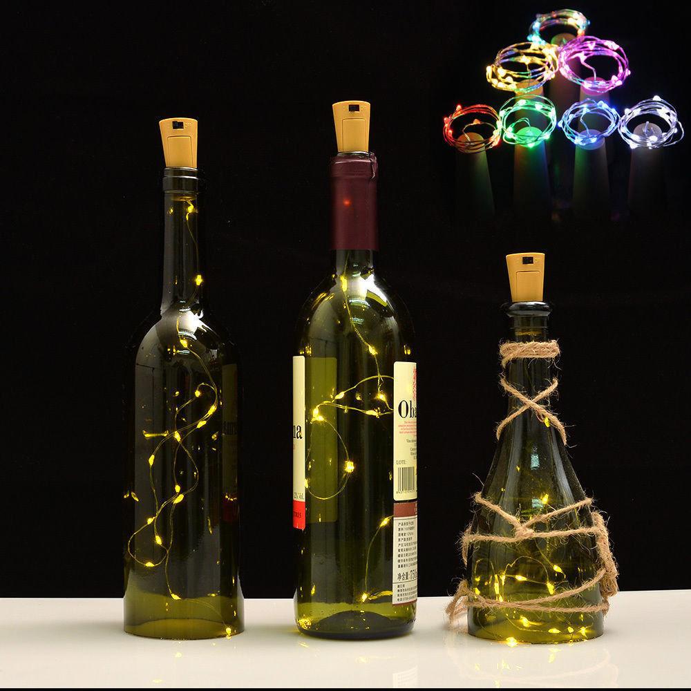 2m 6 6ft Battery 20 Led Cork Wine Bottle Lighting Night Fairy Christmas String Lights