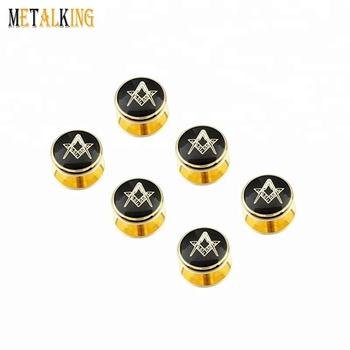62b0adcea78e Gold Freemason Cufflinks and Tuxedo Shirt Studs Set - Men' Wedding  Accessories