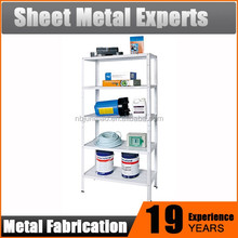 Home and office storage and display use galvanized metal shelving